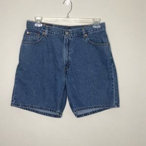Levi's vintage high waisted jean shorts, size 14
